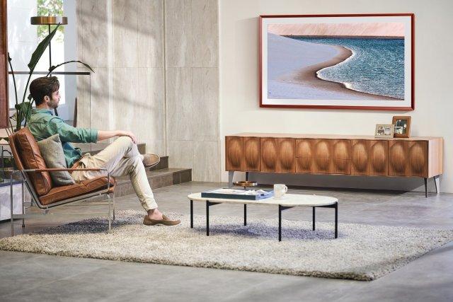 Samsung The Frame 2021 QLED TV Wooden Bezel