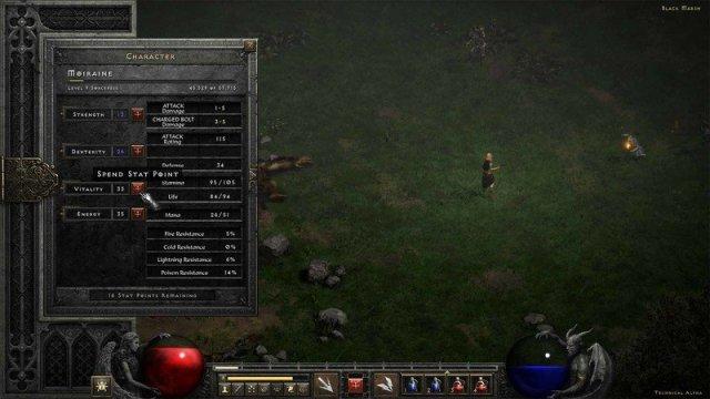 Diablo 2 Resurrected Tech Alpha Stats
