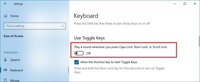 Disable sound for Lock key press