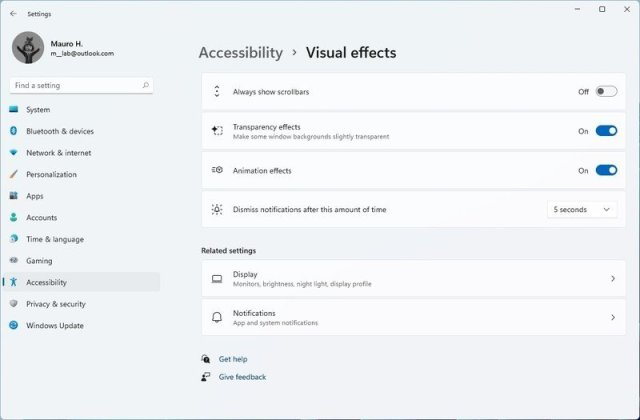 Accessibility Visual Effects