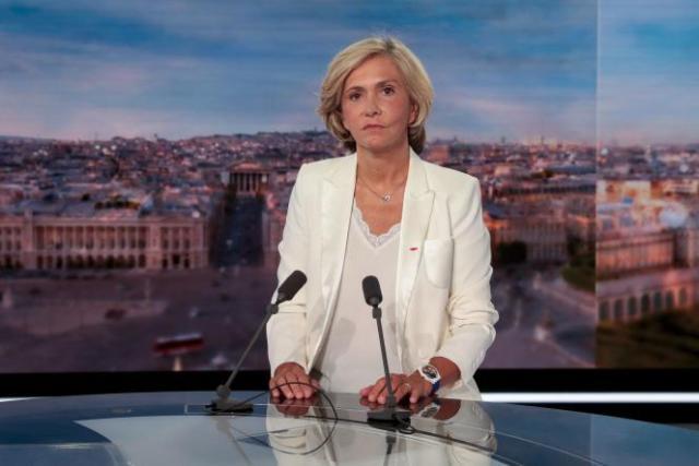 Valérie Pécresse, présidente de la région Ile-de-France, au « 20 heures» de TF1, invitée après l'annonce de sa candidature à l'élection présidentielle de 2022, le 22 juillet 2021.