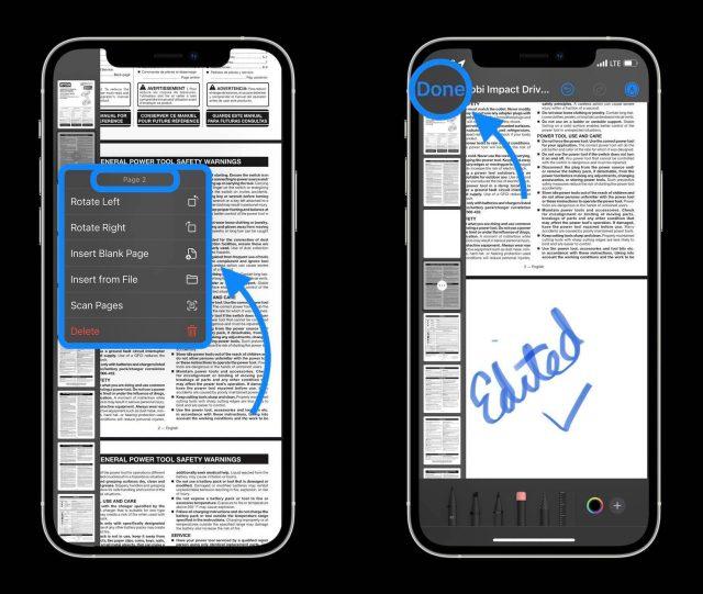 Comment éditer des PDF sur iPhone et iPad dans iOS 15 - procédure pas à pas 2