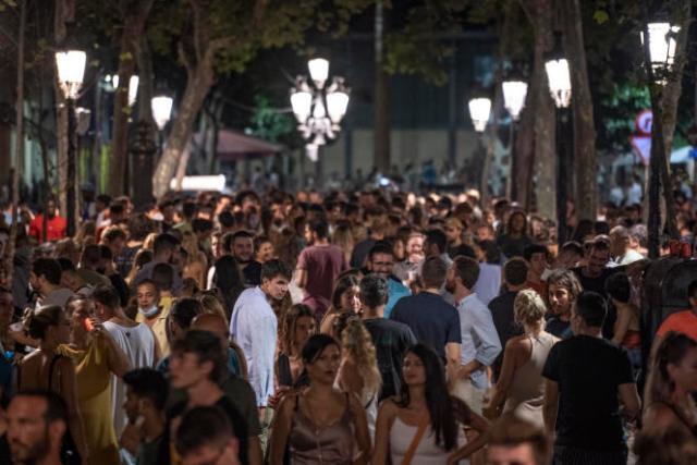 Dans une rue de Barcelone, en Espagne, le 4 juillet 2021.