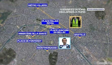 Quatre manifestations ont été déclarées pour ce samedi 31 juillet à Paris.