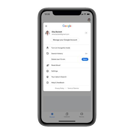 Google: Vous pouvez désormais effacer votre dernière recherche en un clic