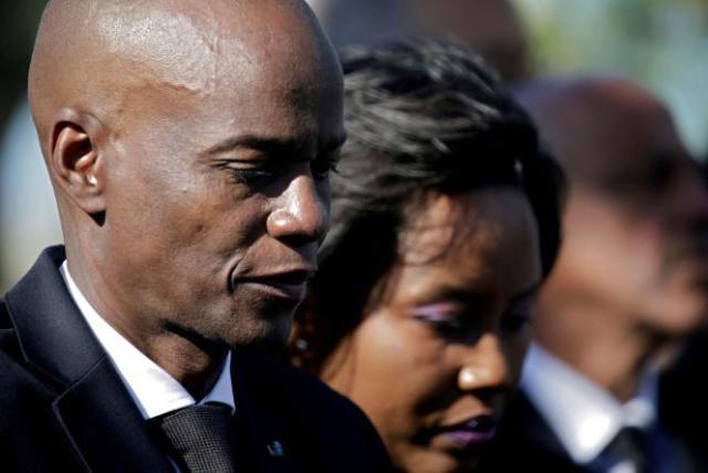 Le président haïtien assassiné,Jovenel Moïse, et la première dame, Martine Moïse, à à Titanyen, en Haïti, le 12 janvier 2020.