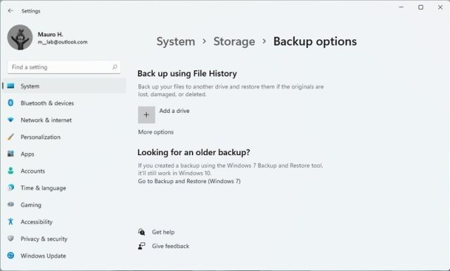 Windows 11 backup options