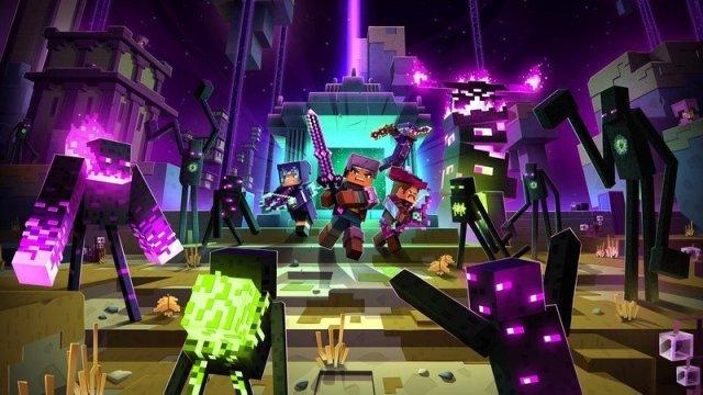 Minecraft Dungeons Echoing Void Dlc Key Art