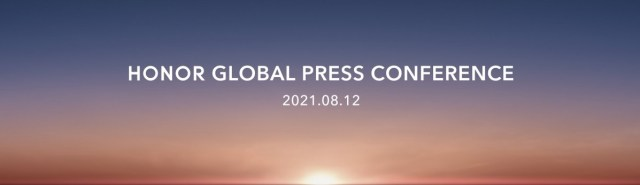 Honor is having a global press conference on August 12