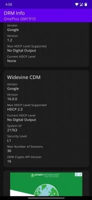 Widevine L1 after a successful update