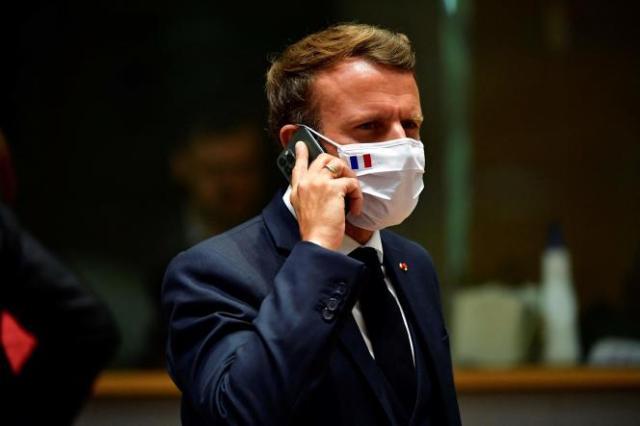 Le président de la République, Emmanuel Macron, à Bruxelles, le 20 juillet 2020.