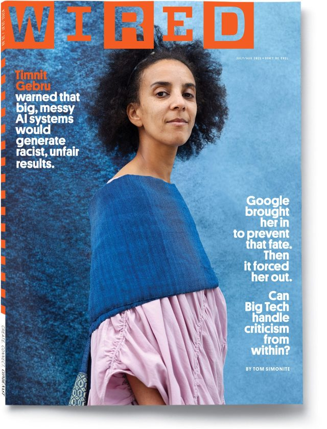 WIRED JulyAug 2021 cover featuring Timnit Gebru