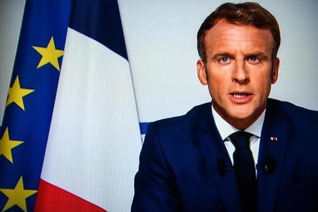 Emmanuel Macron, lors de son allocution télévisée sur la situation en Afghanistan, lundi 16 août 2021.