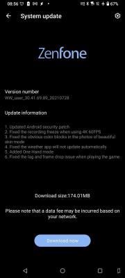 Asus Zenfone 7 and 7 Pro receive minor update