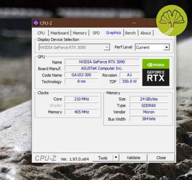 Utilitaire CPU-Z v1.97