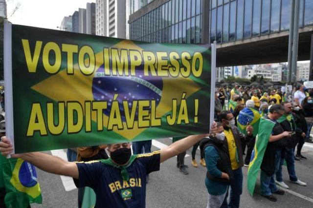 Ils étaient des milliers de partisans pro-Bolsonaro sur l'avenue Paulista à Sao Paulo (Brésil), dimanche 1er août.