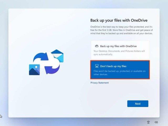 Windows 11 clean install OneDrive backup