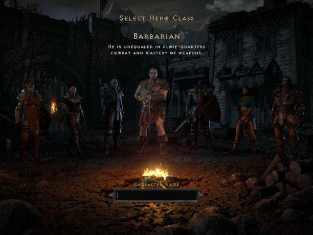 Diablo 2 Resurrected Class Select Screen