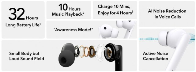 Honor Earbuds 2 Lite with ANC, 32 hour battery life arrive in Europe at €70/£70
