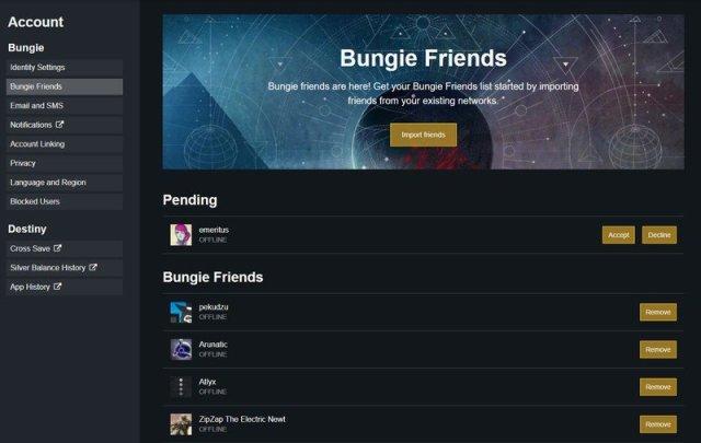 Bungie.net Friend Request