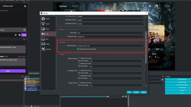 Obs Ps5 Audio settings