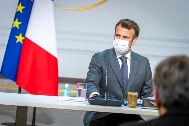 Emmanuel Macron à l'Elysée le 13 juillet 2021.