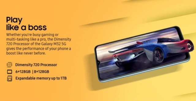 Samsung Galaxy M32 5G announced: Dimensity 720, 48MP quad camera, and 5,000 mAh battery