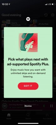 Spotify is testing the Plus plan - an ad-supported subscription with on-demand listening