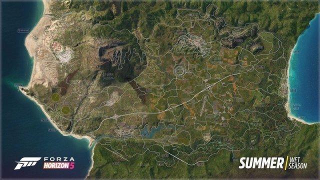 Forza Horizon 5 Full Map Screenshot