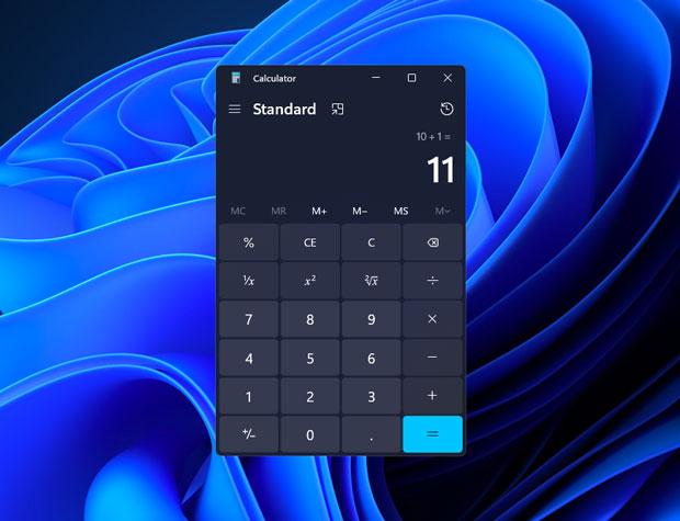 Windows 11 et la calculatrice