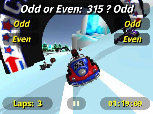 Une capture de Math Racing 2 Pro