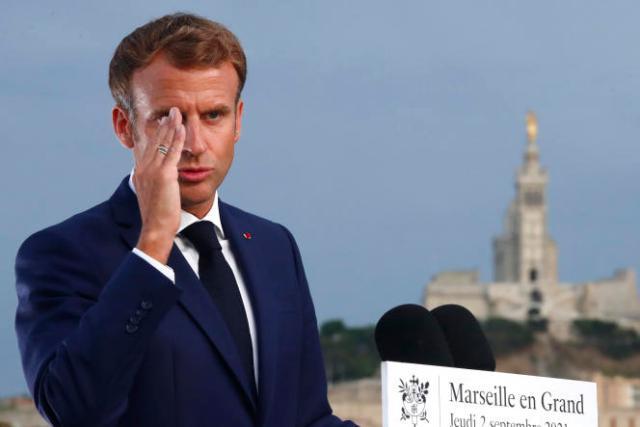 Emmanuel Macron, au parc du Pharo à Marseille, le 2 septembre 2021.