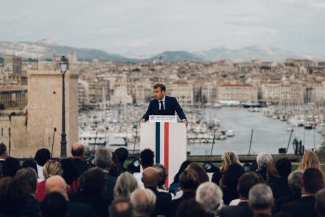 Le président de la République, Emmanuel Macron, au parc du Pharo à Marseille, le 2septembre 2021.