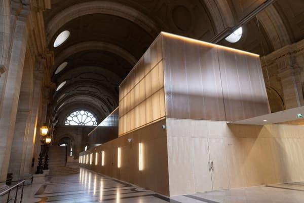 La salle construite spécialement pour accueillir le procès des attentats du 13-Novembre.