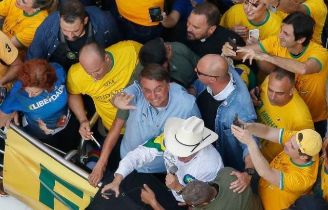 Le président brésilien Jair Bolsonaro, à Sao Paulo, le 7 septembre 2021.