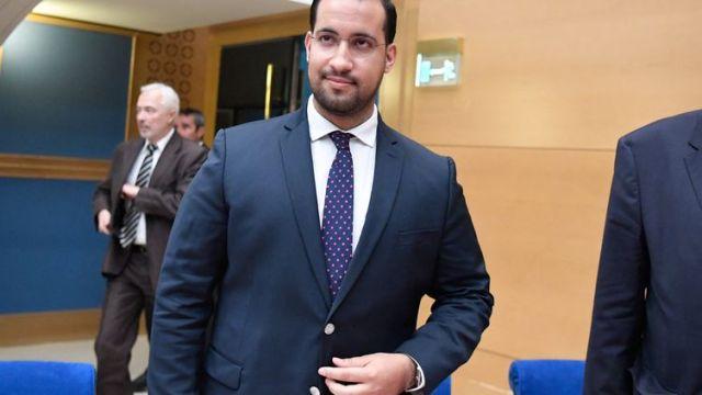 Alexandre Benalla, le 19 septembre 2018, avant une audition devant la commission d'enquête du Sénat. (BERTRAND GUAY / AFP)