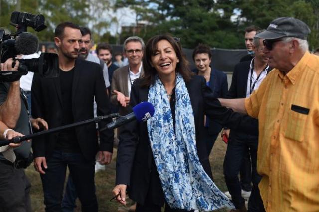 La maire socialiste de Paris, lors de la Fête de «L'Humanité», à LaCourneuve, le 11septembre2021.