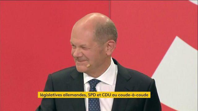 Elections en Allemagne : la réaction du social-démocrate Olaf Scholz après les premiers résultats