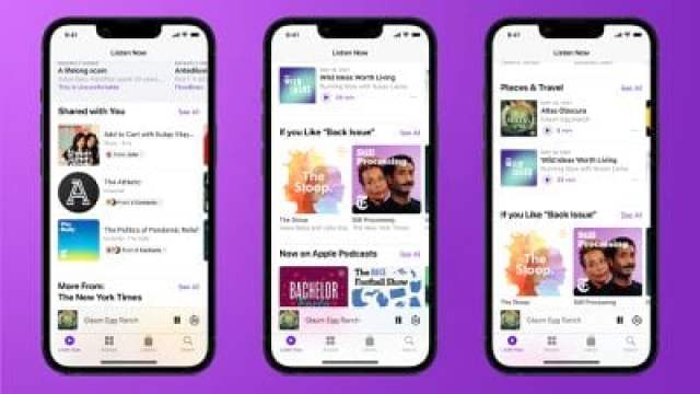 ios 15 podcasts app features