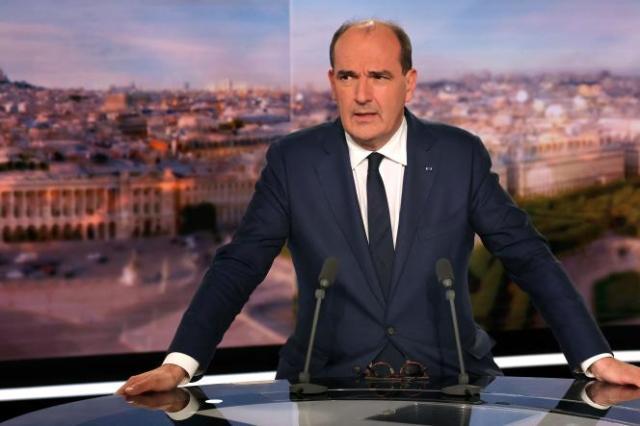 Jean Castex sur le plateau de TF1, le 30 septembre 2021.