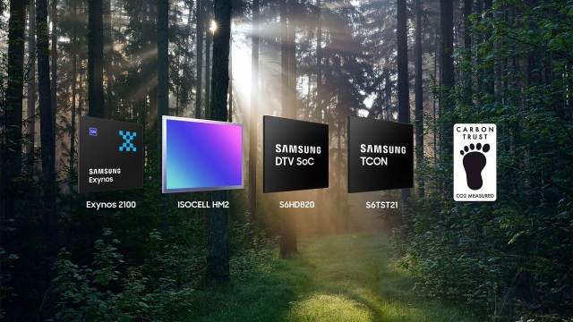Samsung Exynos 2100 ISOCELL HP1 Carbon Trust CO2 Measured Certification