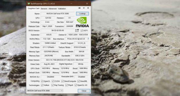 Utilitaire GPU-Z v2.43.0