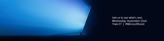 Microsoft: L'événement Surface aura lieu le 22septembre