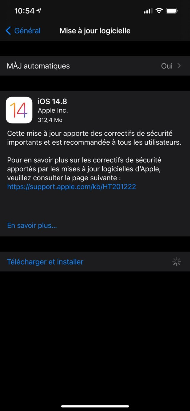 La mise à jour iOS 14.8 contre le mouchard Pegasus