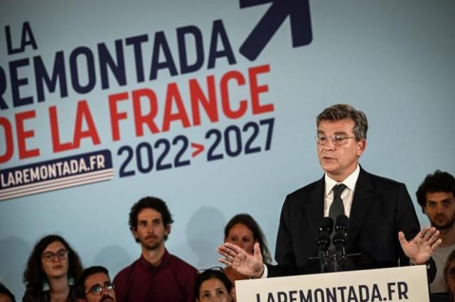 L'ancien ministre Arnaud Montebourg, lors de sa déclaration de candidature à l'élection présidentielle, le 4 septembre 2021.