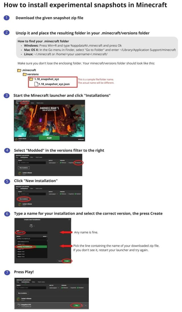 Minecraft Caves And Cliffs Update 1.18 Experimental Snapshot 1 Installation