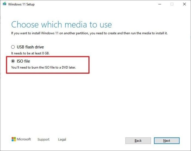Windows 11 ISO download with Media Creation Tool