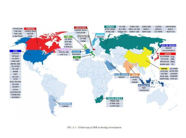 Les différents concepts de SMR à l'étude dans le monde. (AIEA)