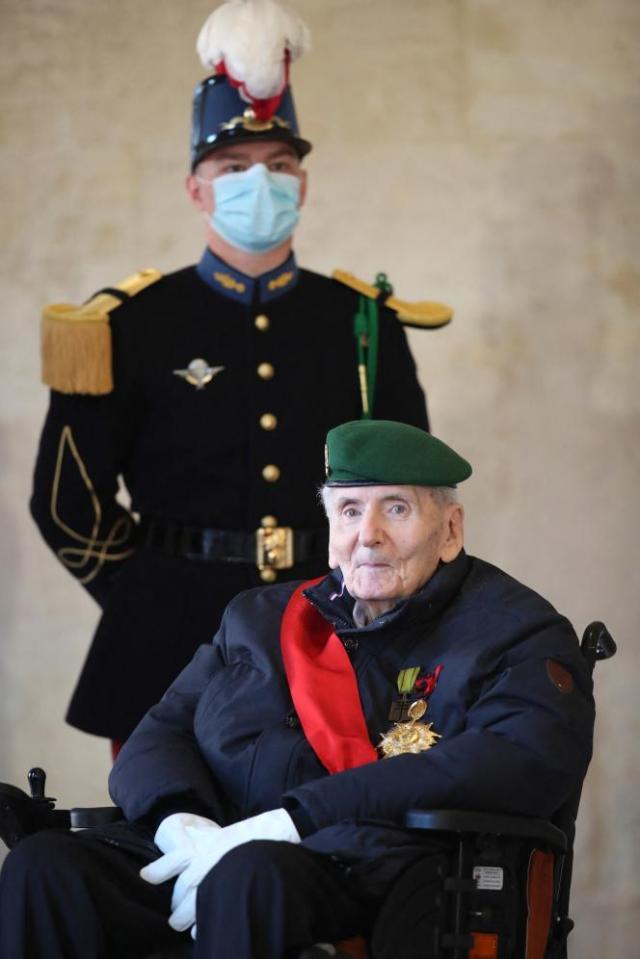 Hubert Germain, le 26 novembre 2020, à l'Hôtel des Invalides, à Paris.