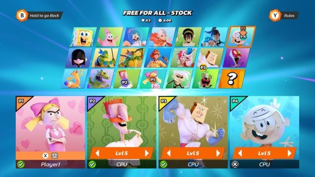 Nickelodeon All Star Brawl All Characters